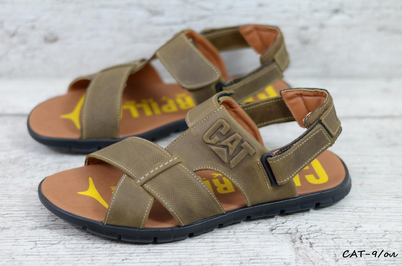 Мужские кожаные сандалии Caterpillar