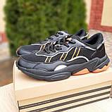 Мужские кроссовки Adidas OZWEEGO Чёрные с оранжевым, фото 4