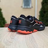 Мужские кроссовки Adidas OZWEEGO Чёрные с оранжевым, фото 6