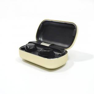 Вакуумные Bluetooth наушники Tws S8 с кейсом Золотые, фото 2