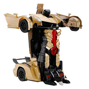 Машинка Трансформер Lamborghini Robot 2667 Size 112 Желтая, фото 2