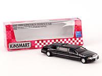 Детская машинка металлическая Ford Lincoln Town Car Stretch Limousin Kinsmart KT 7001 W