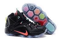 Мужские баскетбольные кроссовки Nike Lebron 12 Black, фото 1