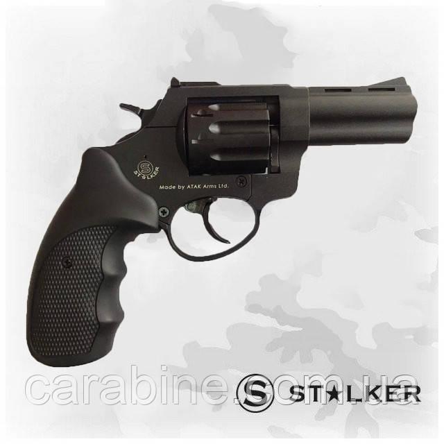 """Револьвер флобера STALKER 3"""", черная пластиковая рукоять"""