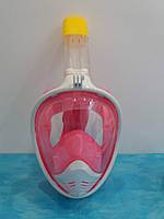 Маска для подводного плавания полнолицевая Snorkel mask панорамная L/XL