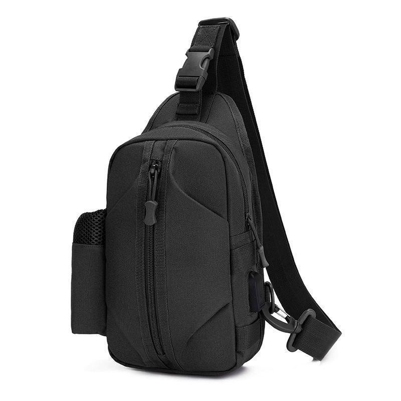 Тактическая сумка-рюкзак барсетка бананка на одной лямке черная T-Bag 446 Vsem