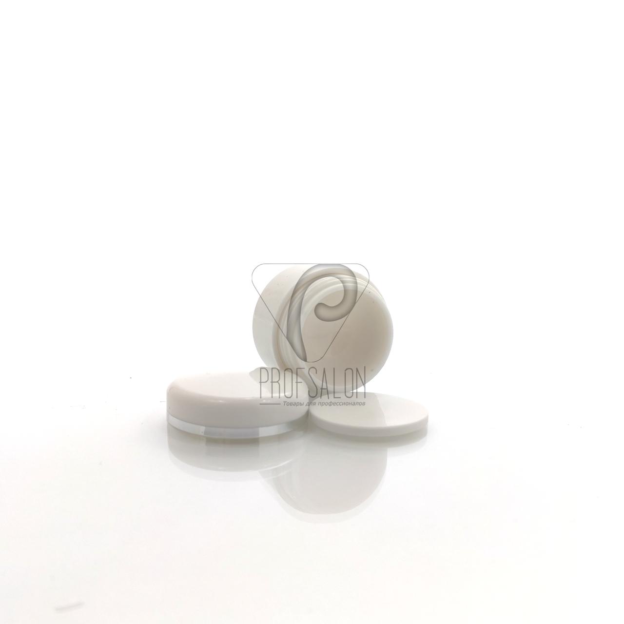 Баночки косметические с мембранной в пачке (7 шт/уп) Объем: 5 гр., цвет: белый