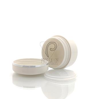 Баночки косметические с мембранной в пачке (3 шт/уп) Объем: 30 гр., цвет: белый