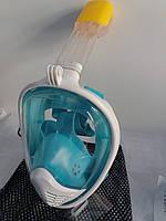 Маска для подводного плавания полнолицевая Snorkel mask размер S/M