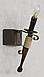 Бра деревянное факел для ресторана на 1 свечку 120721, фото 2