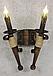 Бра факел из натурального дерева на 2 свечи 120722, фото 6