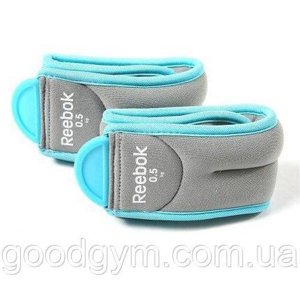 Утяжелители для ног Reebok RAWT-11075BL 1,5 кг, фото 2