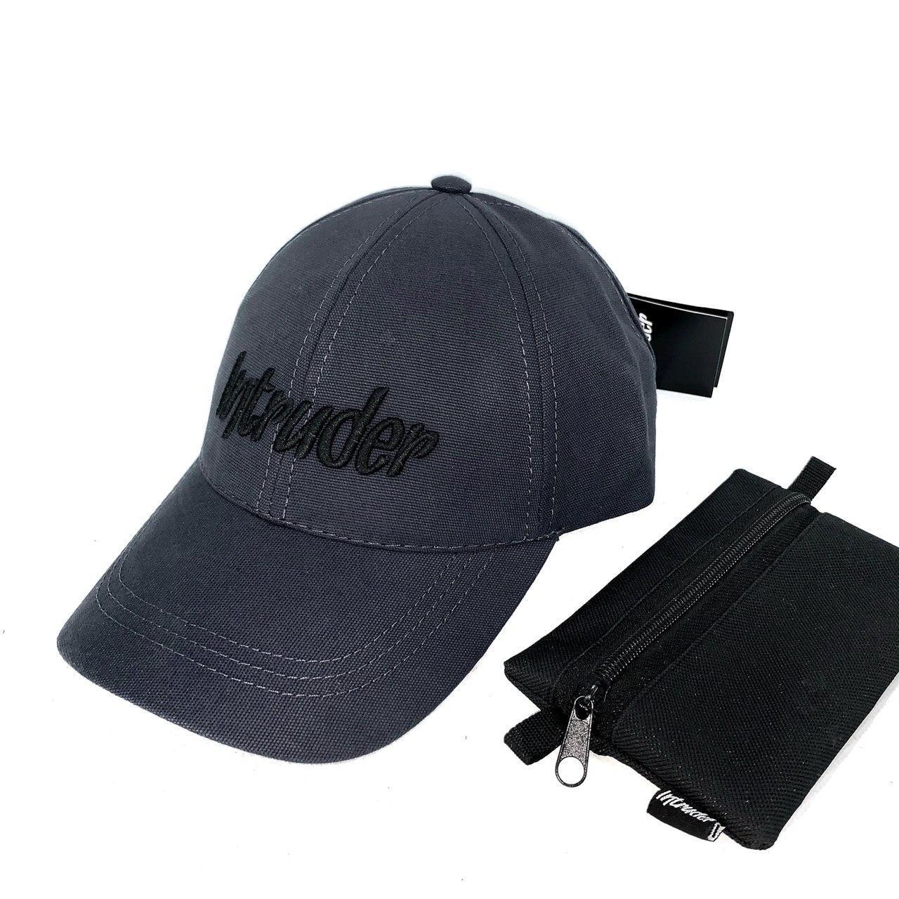 Кепка Intruder чоловіча   жіноча сіра брендовий + Фірмовий подарунок
