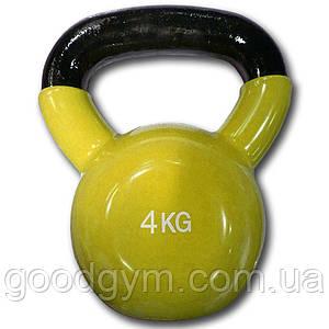 Гиря виниловая цветная Fitex Explode MD2201-4, 4 кг