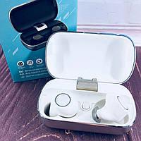 Вакуумные Bluetooth наушники Tws S8 с кейсом Розовые