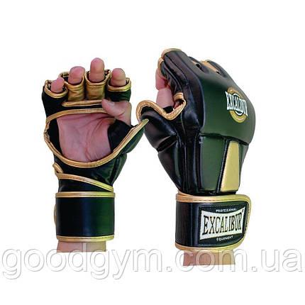Перчатки MMA Excalibur 665 XL золотой/черный, фото 2