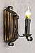Бра из дерева с элементами декора одна свеча 670321, фото 7