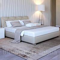 Кровать двуспальная ПурПур MW1600 с подъёмным механизмом, мягким изголовьем и нишей для белья TM Embawood