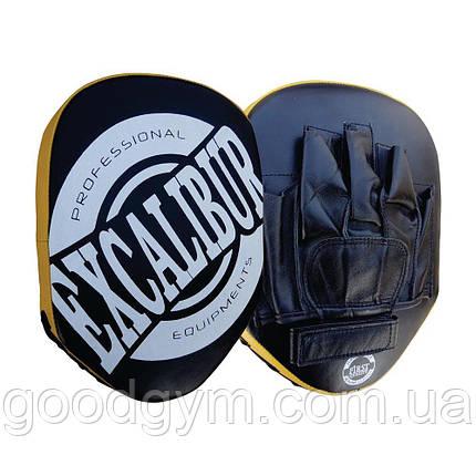 Лапы боксерские Excalibur 802 черный, фото 2