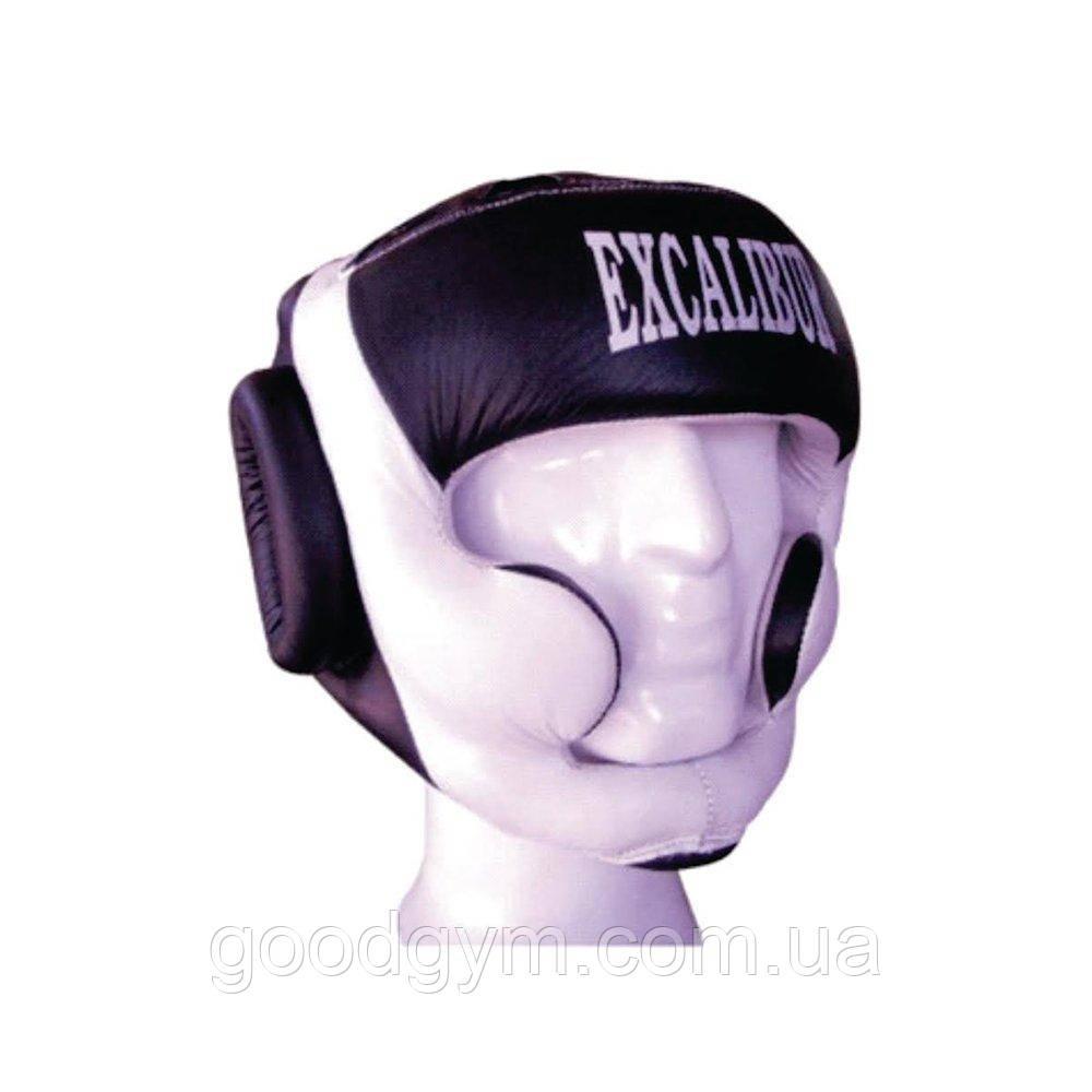 Шлем боксерский Excalibur 714 M белый/черный