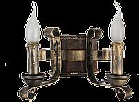 Деревянная бра с элементами ковки на 2 свечи 680322