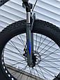 Велосипед ФЕТБАЙК Спорт 26 дюймов Горный спортивный велосипед FatBike 630 СИНИЙ Внедорожник Fat Bike, фото 4