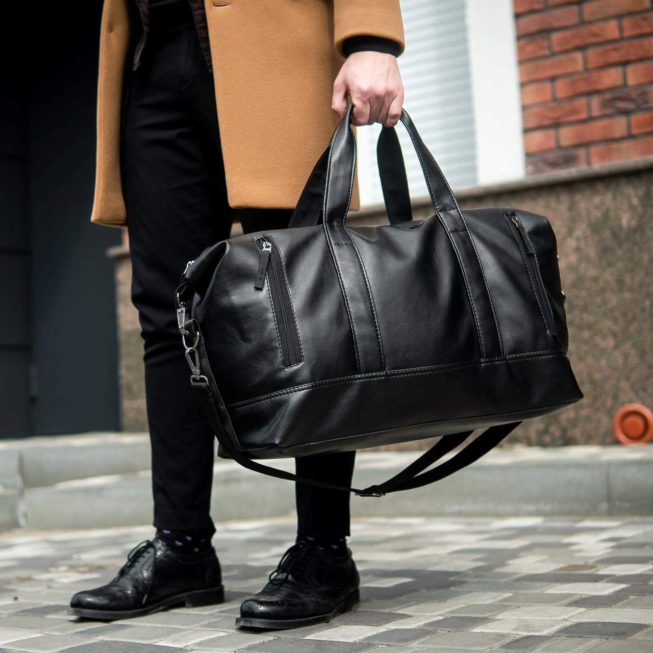 Велика шкіряна дорожня сумка mod.CROSSROAD