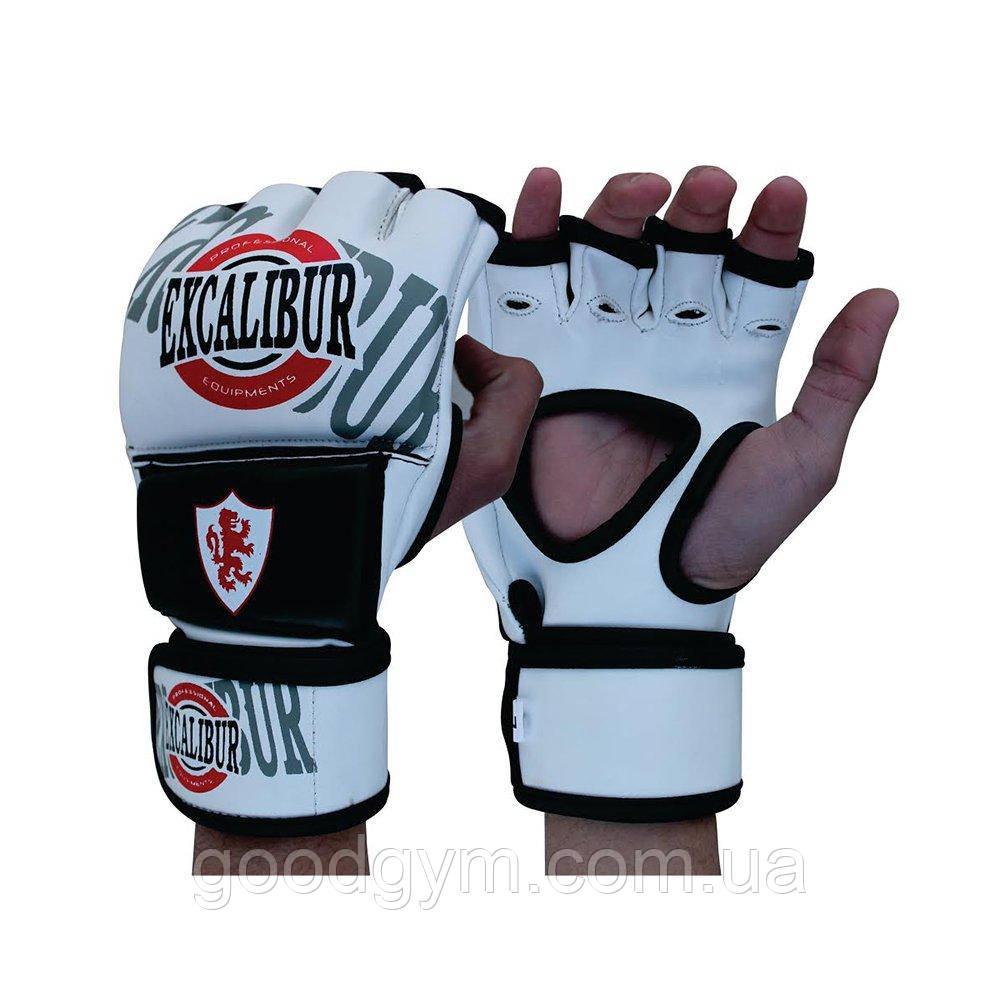 Перчатки MMA Excalibur 670 M белый/черный