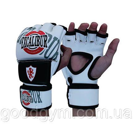 Перчатки MMA Excalibur 670 M белый/черный, фото 2
