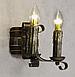 Бра из дерева под старину на 2 свечи 680322, фото 4
