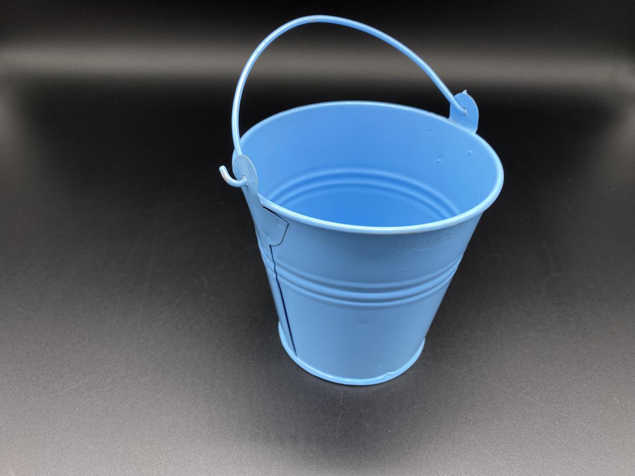 Декоративное ведро. Цвет голубой. 11см