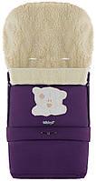 Зимовий конверт Babyroom №20 з подовженням фіолетовий (мордочка ведмедики штопаная), фото 1