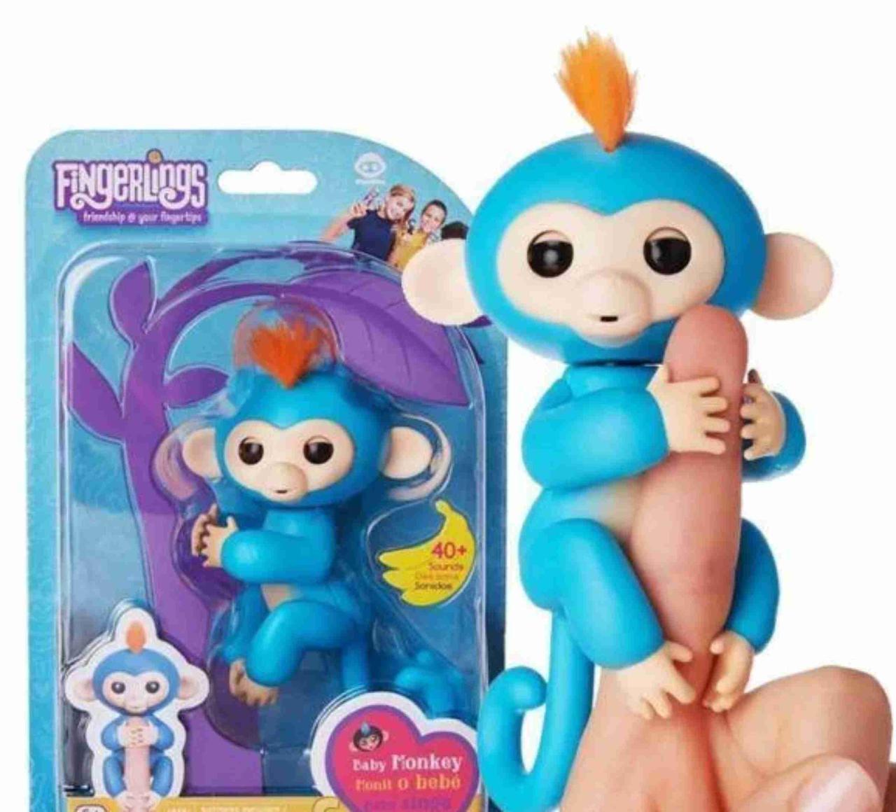 Fingerling Finger Monkey Интерактивная игрушка ручная обезьянка. Игрушка FingerMonkey
