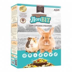 Корм для средних грызунов Лоривит 1,5 кг Корм для средних грызунов Лоривит 1,5кг