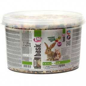 LoLo pets Корм для кроликов и грызунов Ведро фруктовый 1,8 кг 71065