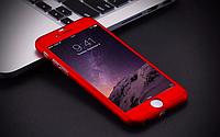 3D Чехол бампер 360 ° + защитное стекло в подарок Iphone 6+/ 6s+ противоударный чехол для айфона 6 плюс