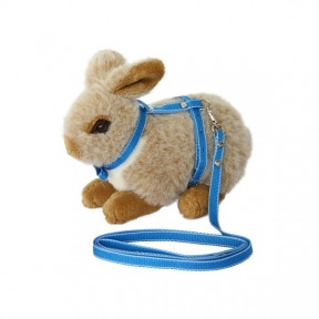 Шлейка с поводком для кроликов Фауна Синяя