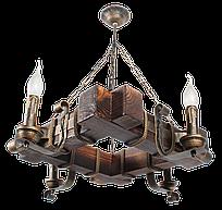 Люстра кованая для дачи на 4 свечи