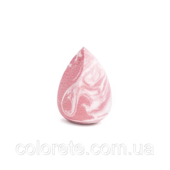 ZOLA Спонж супер мягкий бело-розовый со скосом
