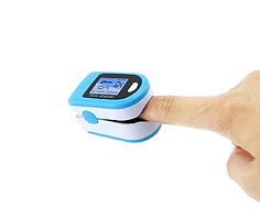 Пульсометр оксиметр на палец, прибор для измерения пульса