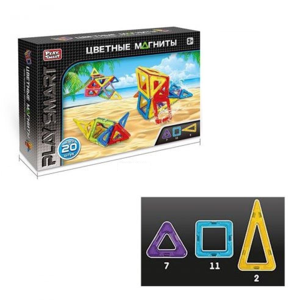 """Детский конструктор магнитный """"Цветные магниты"""" Play Smart 2467 (20 деталей)"""