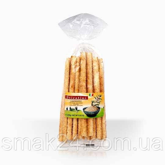 Хлебные палочки без пальмового масла с кунжутом Stiratini Sesam Grissini 250 г Австрия