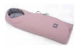 Конверт в коляску и автокресло Cottonmoose ODWF 439/113/49 powder pink cotton jersey melange cotton jersey