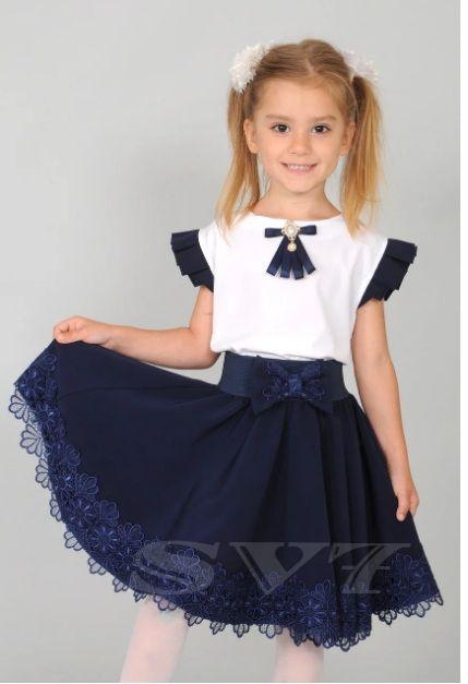 Красивая юбка с кружевом для школьницы