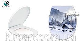 "Сиденьедляунитазаскрышкой(пластик) ""Зима"" Elifplastik ,Турция 36,5х45см"