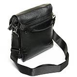 Шкіряна чоловіча сумка через плече / Мужская кожаная сумка через плечо DR. BOND 315-3 black, фото 2