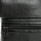 Шкіряна чоловіча сумка через плече / Мужская кожаная сумка через плечо DR. BOND 315-3 black, фото 4