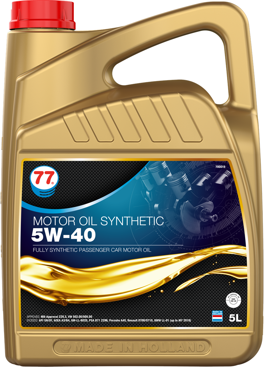MOTOR OIL SYNTHETIC 5W-40 (кан. 5 л)