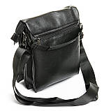 Шкіряна чоловіча сумка через плече / Мужская кожаная сумка через плечо DR. BOND 315-4 black, фото 2