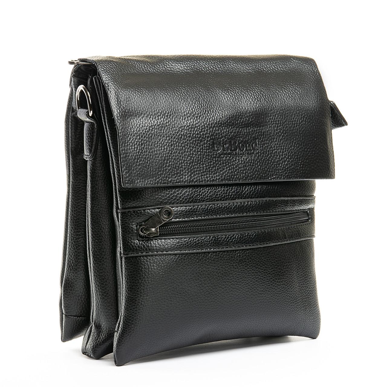 Шкіряна чоловіча сумка через плече / Мужская кожаная сумка через плечо DR. BOND 315-4 black